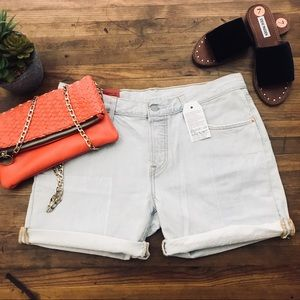 Levi's 501 VTG Style Jean Shorts Distressed Sz 29